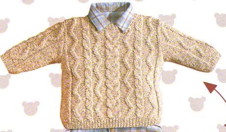 [Tricot] Le pull beige irlandais - La Boutique du Tricot et des Loisirs Créatifs