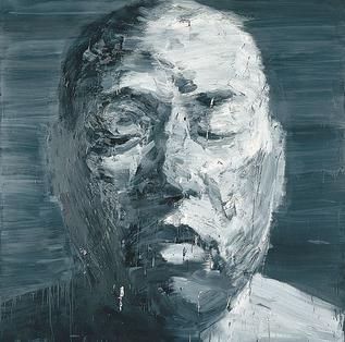 'Self-portrait (Mars)', oil on canvas painting by Yan Pei-Ming, 2000, National Gallery of Australia - Yan Pei-Ming - Wikipedia, the free encyclopedia