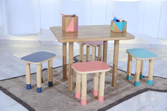 Kids Chair And Table Set Montessori Kid Chairs And Table Set Montessori Furniture Wooden Chairs Childrens Chair And Table Kids Room Wooden Table Chairs Toddler Chair Furniture
