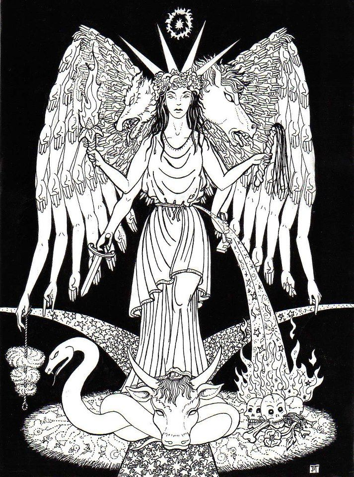 """""""Hecate [Hekate]"""" - by Jane Estelle Trombley    [Art found at…"""