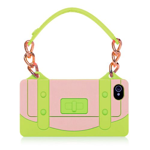 Green Lady's Handbag Style TPU Case For iPhone 4 4S #blackfriday #discount #girlycase #iphone4case #cellz.com