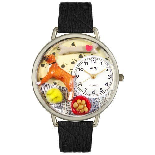 Whimsical Watches Unisex U0130014 Boxer Black Skin Leather Watch Whimsical Watches. Save 32 Off!. $40.99. Perfect for gifts and occasions!. Boxer theme dial. Silver-tone stainless steel case; case diameter: 42 mm. Black skin Italian leather strap. Precise, high-quality Japanese-quartz movement