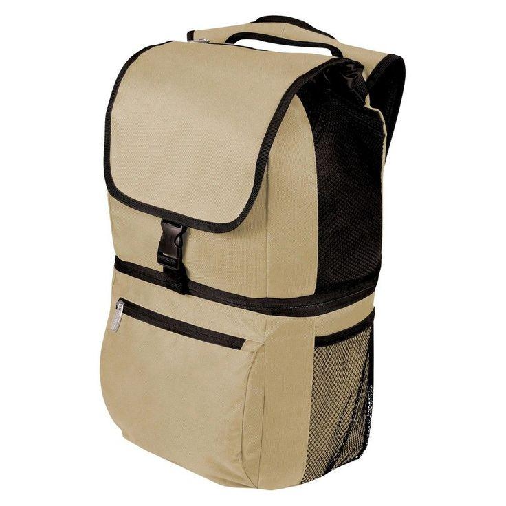Picnic Time Zuma Insulated Backpack Cooler - Tan, Beige