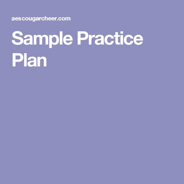 Sample Practice Plan