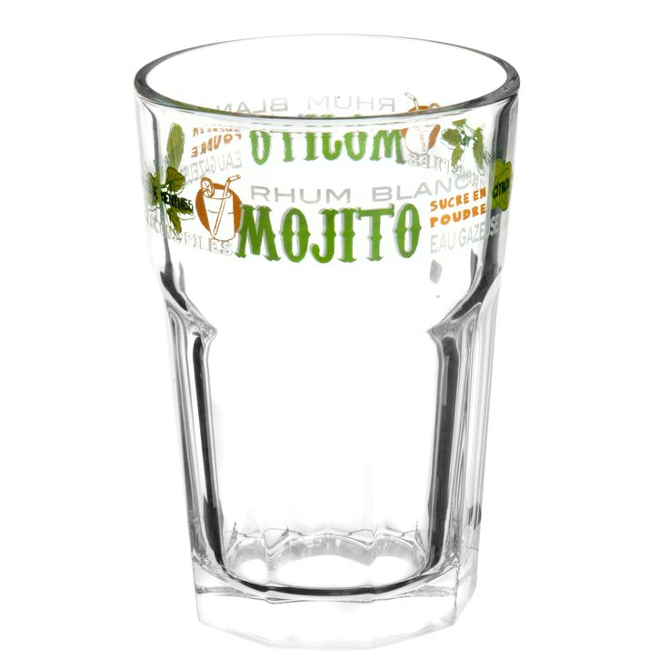 Verre en verre vert MOJITO   - Vendu par 6