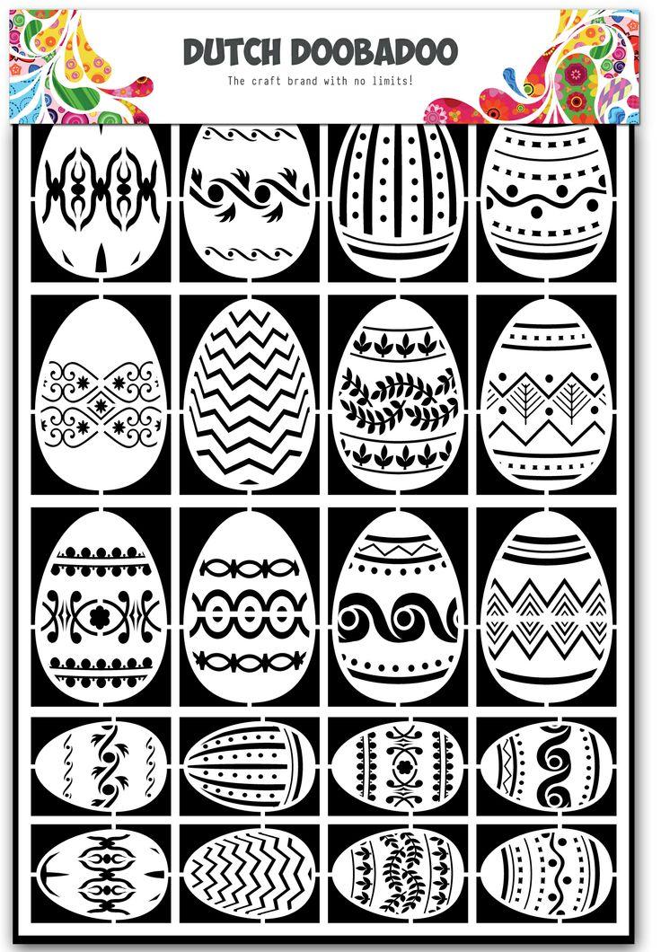 472.948.018 Dutch Doobadoo Paper Art Eggs 1 st.