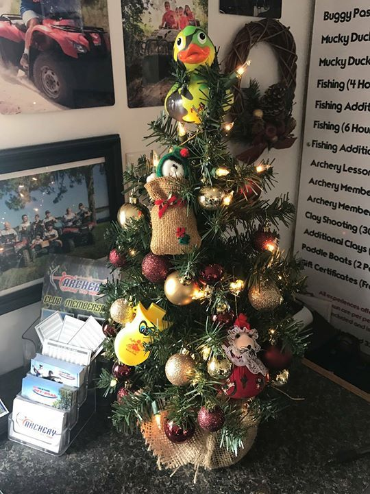 Our tiny office tree is back up and Mucky Duckling is excited to help with all of the holiday festivities! Ask about our gift certificates! #GetDirty #OffRoad #HappyHolidays #ThingsToDoInOrlando #ATV #GreatOutdoors via Orlando Activities For Adults