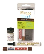 The Mirage Touch Kit, specially designed for prefinished wood floors, allows you to repair everyday accidents and restore your floor to its original appearance.