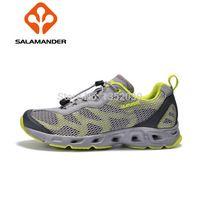 Compre nuevos zapatos antideslizantes drenaje fugas lado de aguas arriba de senderismo , zapatos ocasionales de los deportes , los hombres y las mujeres ' s zapatos al aire libre