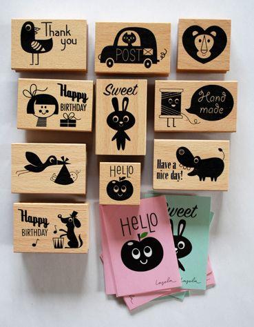 super cute stamps by an amazing artist, Ingela Arrhenius!