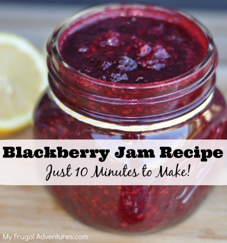 Easy Homemade Blackberry Jam Recipe.