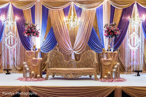 Magnificent indian wedding stage. http://www.maharaniweddings.com/gallery/photo/90929