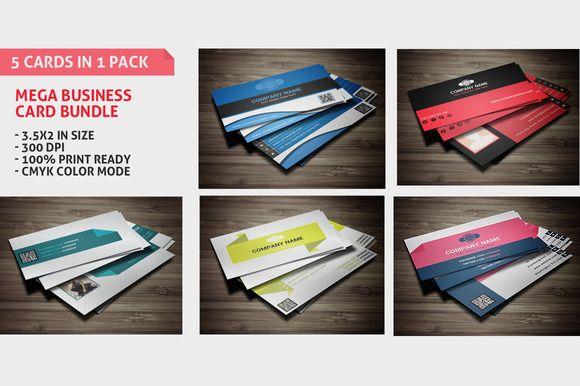 Check out Mega Business Cards Bundle by WonderShop on Creative Market