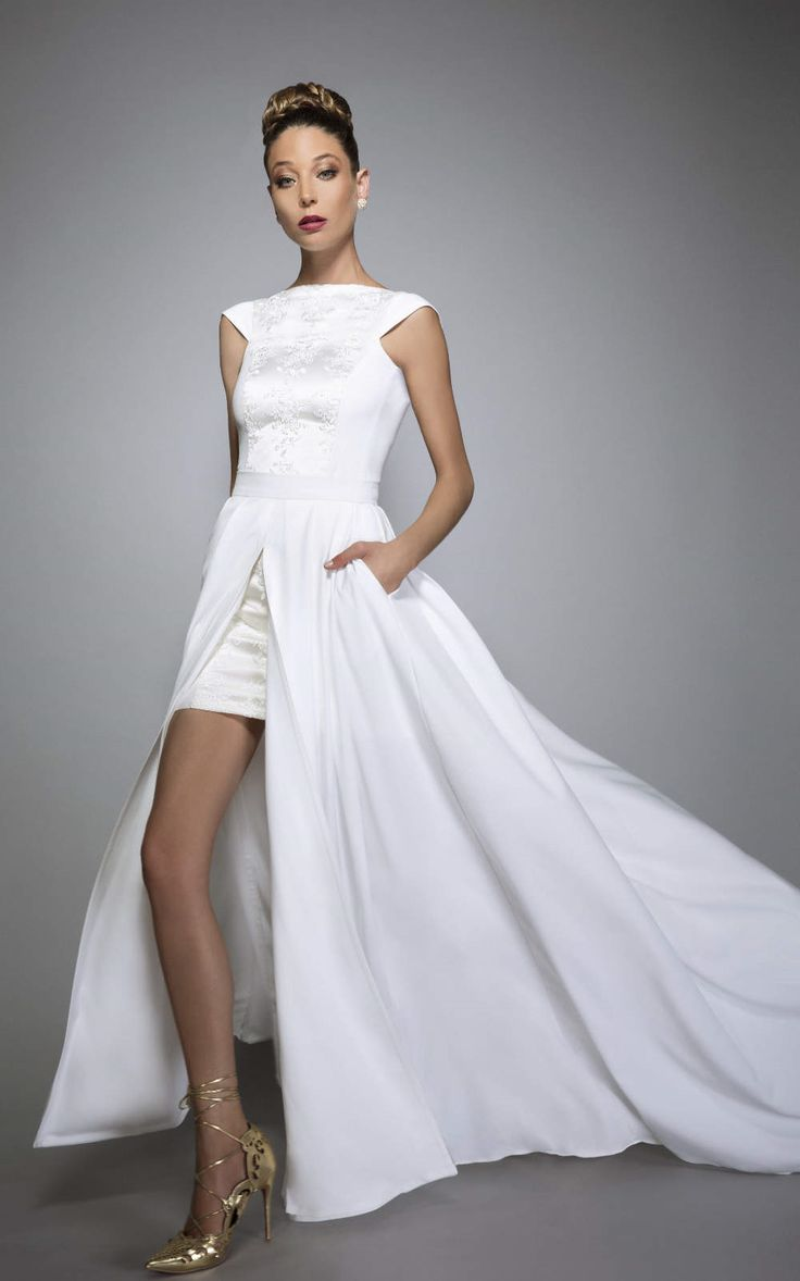 57 best urban wedding images on pinterest designer wedding veruschka convertible wedding dress with pockets and train bare back bridal separates 2 in 1 urban chic non traditional ombrellifo Image collections