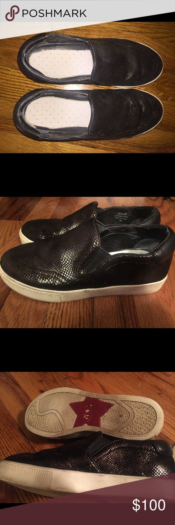 ASH sneakers Black ASH sneakers.  Good condition.  Size 6 Ash Shoes Flats & Loafers