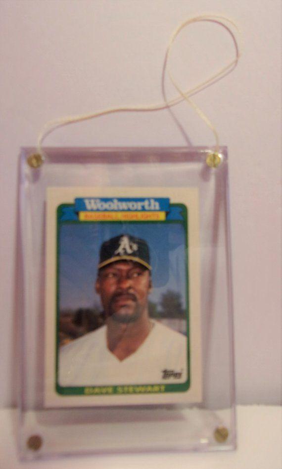 1989 Athletics Woolworths 33 Dave Stewart Baseball Card Pitcher