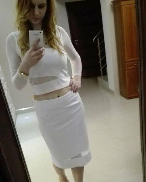 Biały komplet wizytowy - MatMari - Kostiumy na miarę