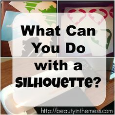 So what exactly can a Silhouette cutting machine do? Let me show you!!