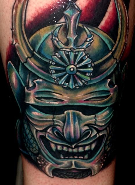 Roman Abrego | Pin Sf Warrior Mask In Different Tattoos By Roman Abrego on Pinterest