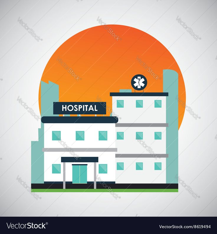Hospital design Healthy center emergency concept Vector Image by jemastock