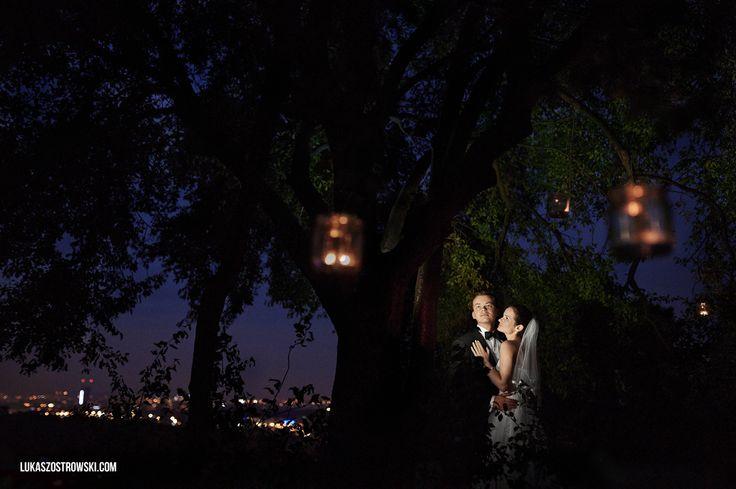 night wedding session
