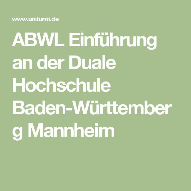 ABWL Einführung an der Duale Hochschule Baden-Württemberg Mannheim