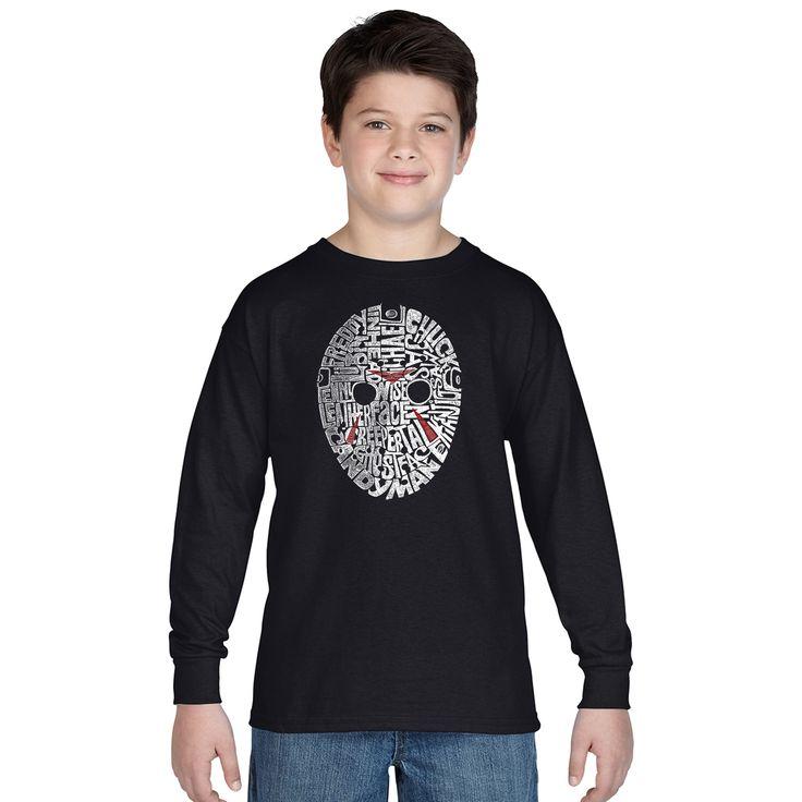 Los Angeles Pop Art Boys Slasher Movie Villians Multicolor Long-sleeve T-shirt