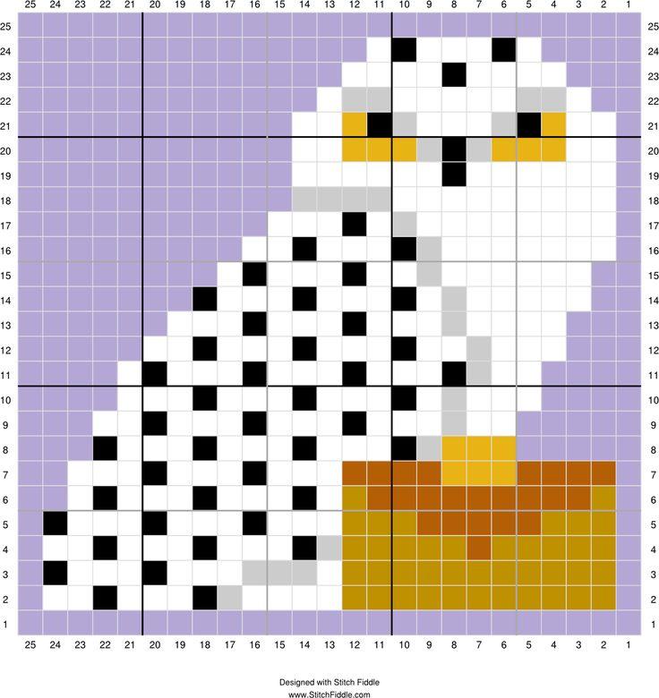 Hedwig   Designed by Lesley Hahn   Stitch Fiddle - Stitch Fiddle
