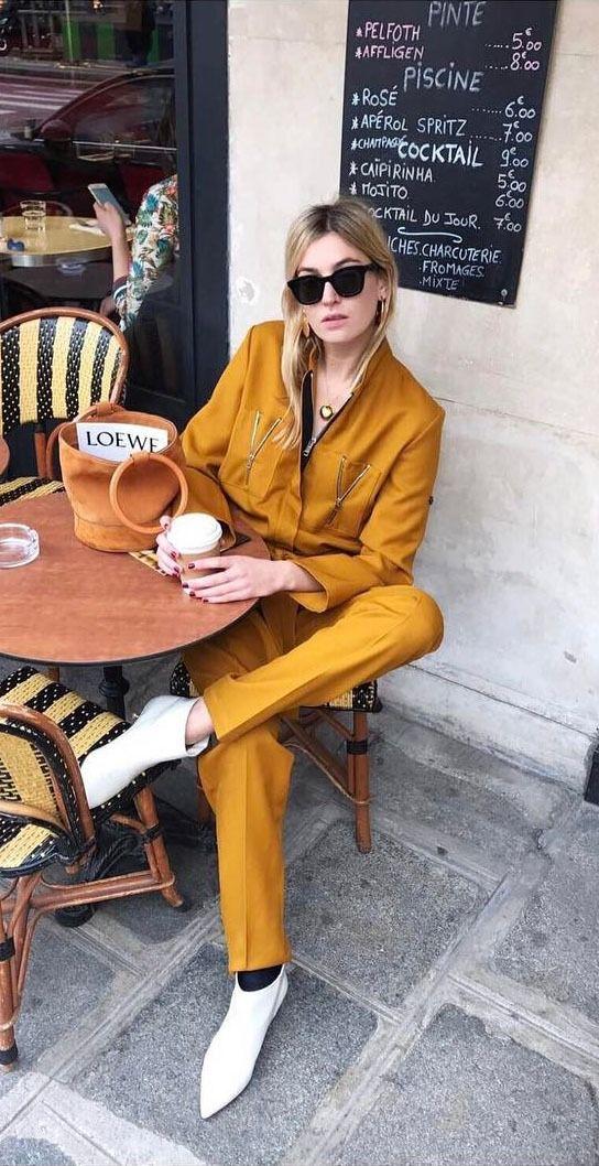 Yellow outfit inspiration, Camille Charrière bloggeuse mode, ideas de look amarillo, idée de tenue jaune