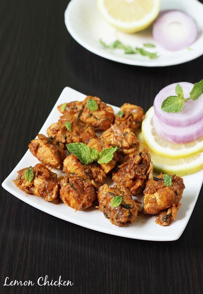 lemon chicken recipe | easy chicken starter recipe