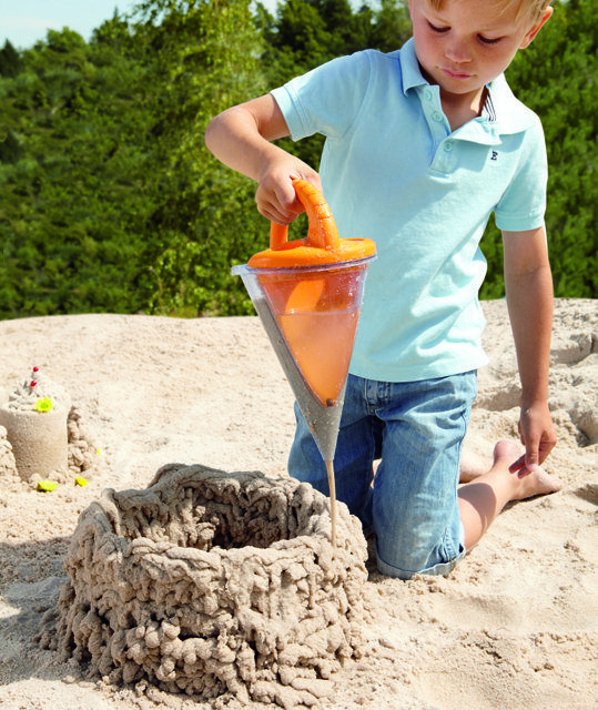 Sand Funnel Creates Sand Structures For All Day Beach Fun -  #art #beach #kids #sand