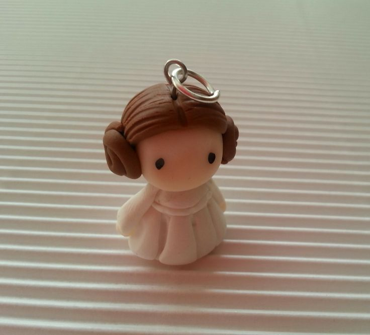 ||| clay sculpture doll miniature figurine figure Princess Leia Organa Star Wars