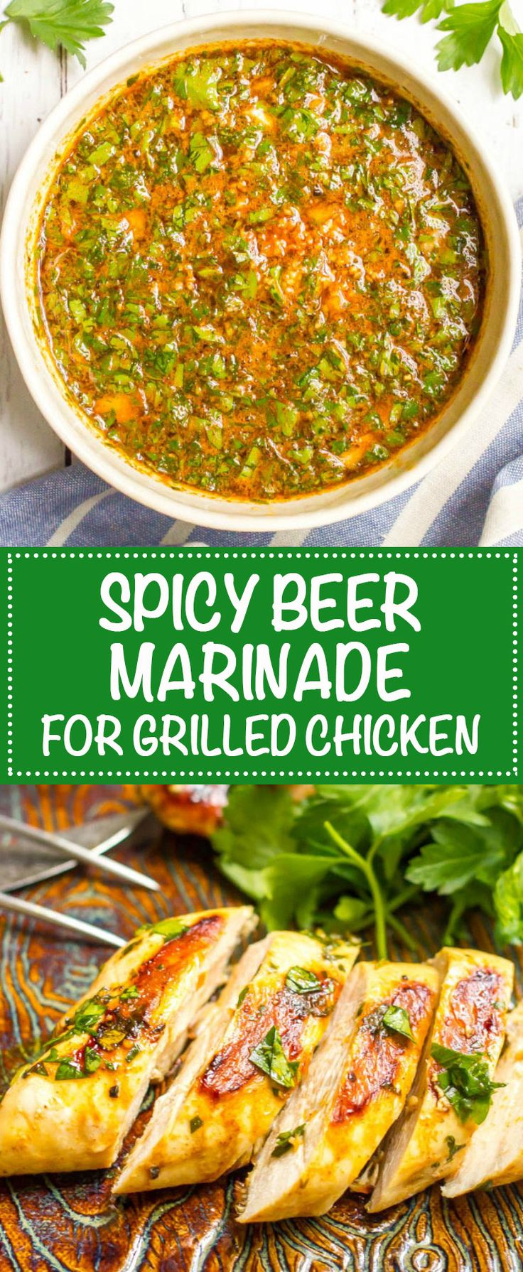 Spicy beer marinade for chicken collage (Lime Chicken Marinade)
