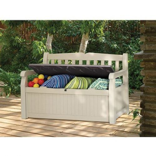 Patio Storage Cabinet Outdoor Garden Bench Cushion Box 70 Gallon Resin Furniture #PatioStorageCabinet