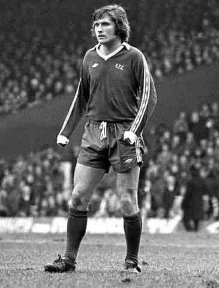 Ronnie Goodlass of Everton in 1977.