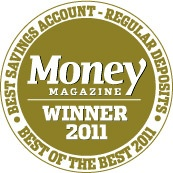 USaver was awarded Money Magazine 2011 Best Savings Account - Regular Deposits