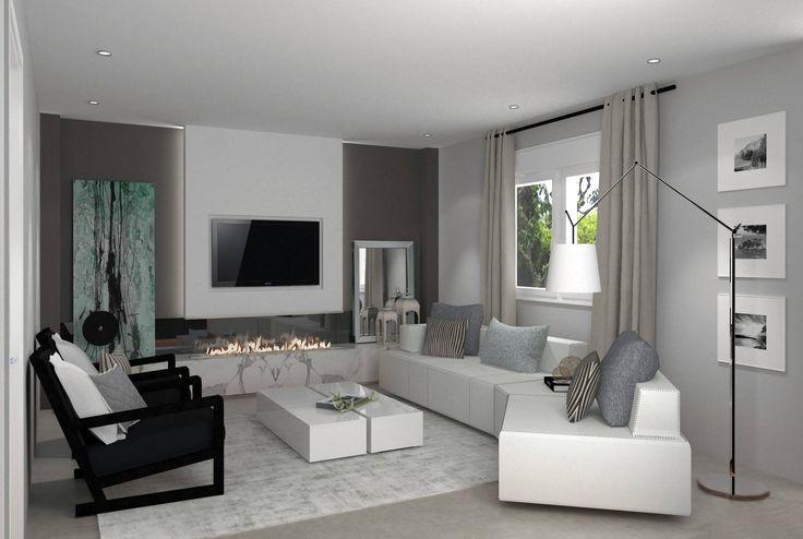 Diseño de una sala de estar, donde también nos hemos ocupado de su desarrollo! ❤  Os lo mostramos en una imagen realizada en 3D en calidad foto. Diseño de interiores!