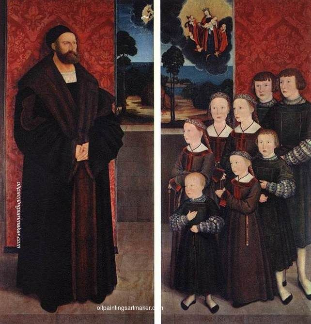 Bernhard Strigel Portrait of Conrad Rehlinger and his Children, 1517 painting for sale paypal payment, painting Authorized official website