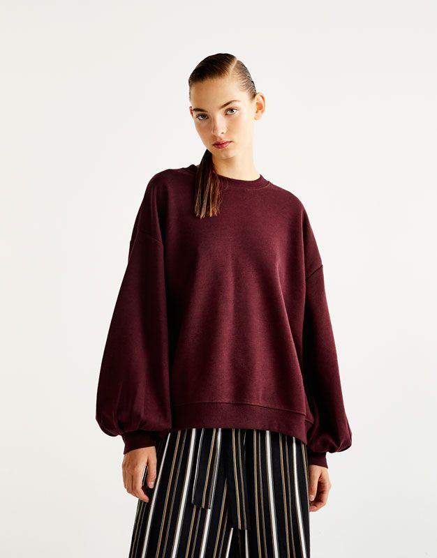 :Sweatshirt com manga de balão