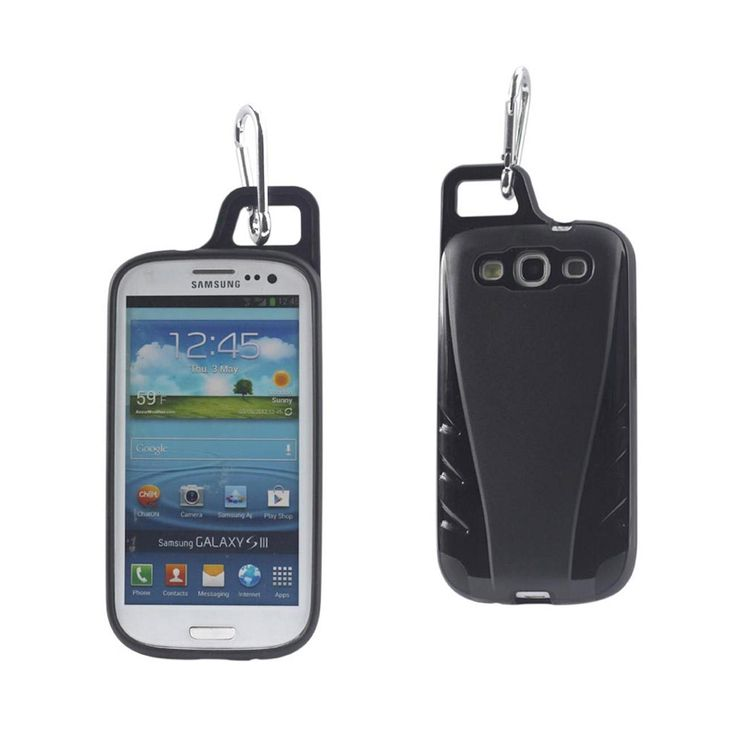Reiko Samsung Galaxy S3 Dropproof Workout Hybrid Case With Hook In Black