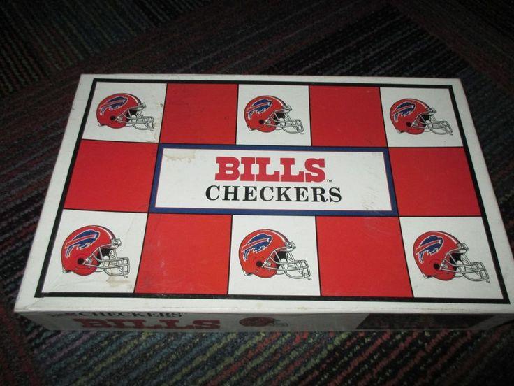 VINTAGE 1993 NFL BUFFALO BILLS VS MIAMI DOLPHINS MINI HELMET CHECKERS GAME, NC  #BuffaloBills