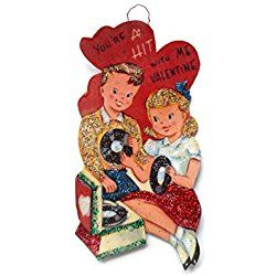 Valentine's Day Card Ornament Decoration Retro Groovy Music Teens Handmade Holiday Gift