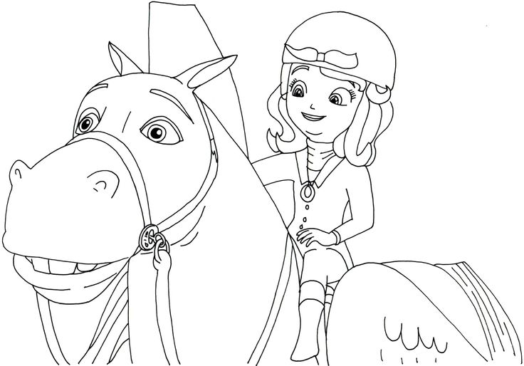 Sofia free coloring pages ~ sofia the first coloring pages printable tagged with ...