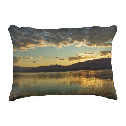 roosevelt lake sunset pillow home gifts ideas decor special unique