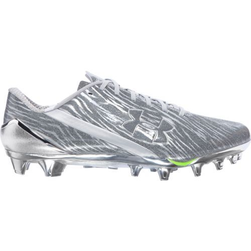 Under Armour Men's Spotlight Football Cleats (Metallic Silver/White, Size 14) - Football Shoes at Academy Sports