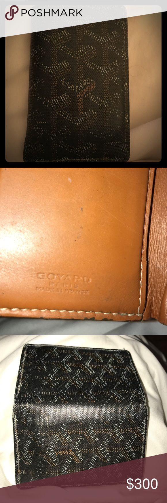 Goyard men's wallet gently used Paid $700. My partner has a hard time getting his cards in and out of the slots. Not that big of a deal but it annoys him. Goyard Accessories Key & Card Holders