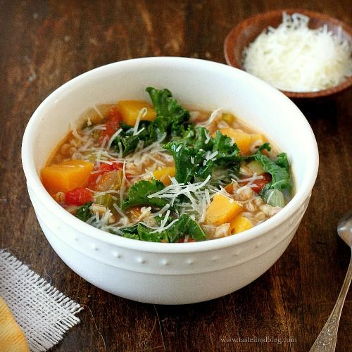 Chicken Soup With Farro, Kale, And Turmeric Recipes — Dishmaps