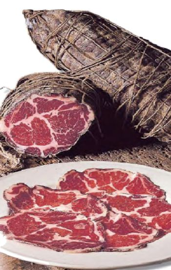 Coppa is a traditional Italian cold cut (salume) made from dry-cured whole pork shoulder or neck.