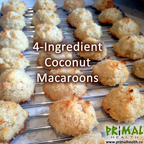 ... whip up healthy scrumptious coconut macaroons with only 4 ingredients