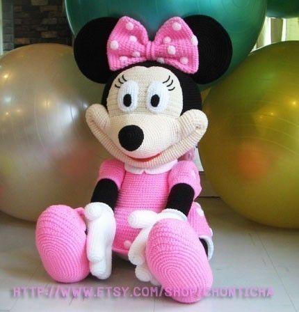 Minnie Mouse Amigurumi Crochet Pattern : Minnie Mouse 35 inches - PDF amigurumi crochet pattern ...